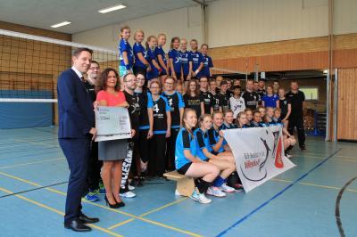 Foto zur Meldung: Trainingsmaterial für die Volleyballer