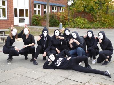 Eine Pantomime-Gruppe