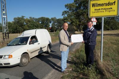 Foto zur Meldung: Straße von Wilmersdorf nach Neu Krüssow wird ausgebaut