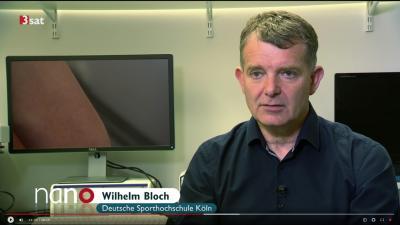 """Prof. Wilhelm Bloch in Sendung """"3sat nano"""" (Ausschnitt aus Sendung, Copyright bei 3sat)"""