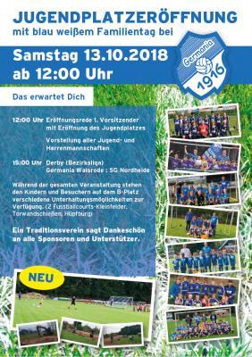 Foto zur Meldung: Germania - Jugendplatzeröffnung 13.10.2018