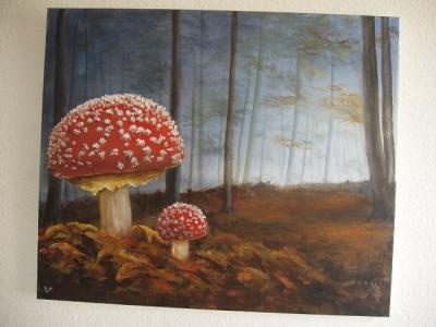 Vorschaubild zur Meldung: Jürgen Lucka - Acrylmalereien im Bad Sülzer Rathaus