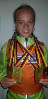 Foto zur Meldung: Cindy Haasch gewinnt dreimal Schülercup-Gold