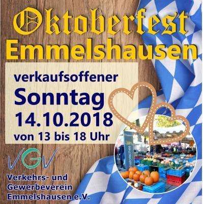 Vorschaubild zur Meldung: Verkaufsoffener Sonntag in Emmelshausen am 14.10.2018