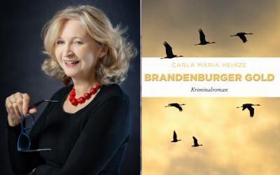 Foto zu Meldung: Die Autorin Carla Maria Heinze  liest aus ihrem neuesten Kriminalroman  Brandenburger Gold
