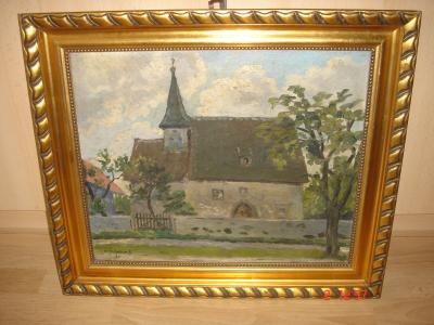 Vorschaubild zur Meldung: Neues Gemälde für das Kirchenzimmer