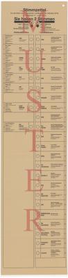 MUSTER Stimmzettel