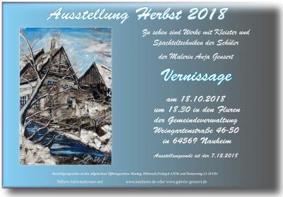 Foto zur Meldung: Vernissage zur Kunstausstellung Herbst 2018 am 18. Oktober