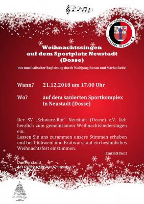 Vorschaubild zur Meldung: Weihnachtsliedersingen auf dem Sportplatz in Neustadt (Dosse)