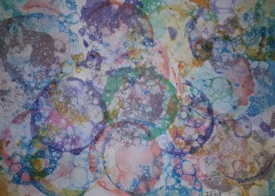 Vorschaubild zur Meldung: Classe 4b - Arts visuels - Bulles de savon colorées