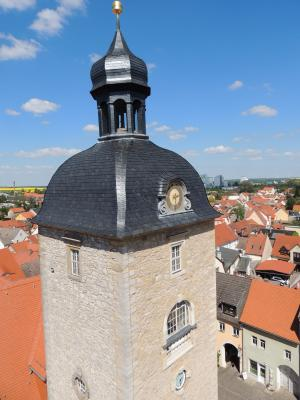 Rathausturm Querfurt - Blick nach Nordost
