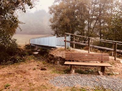 Neue Brücke im Lüdertal