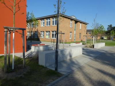 Blick zur Freien Oberschule Baruth
