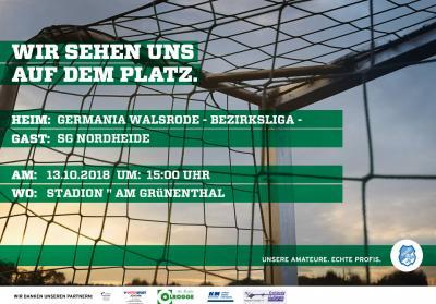 DFB Spieltagsplakat - I.Herren - SG Nordheide - 13.10.18