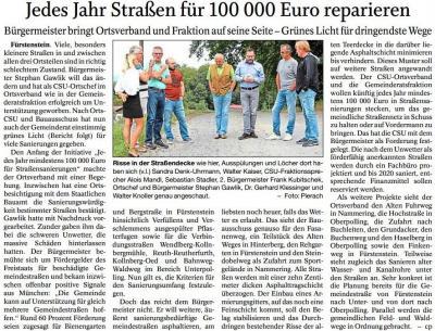 Vorschaubild zur Meldung: Jedes Jahr Straßen für 100 000 Euro reparieren