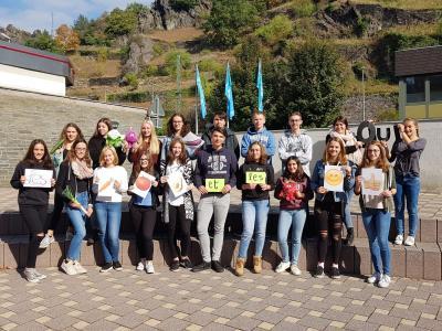 Die Französischgruppe der Klasse 10b hat am Ernährungsquiz des Haus Burgund teilgenommen