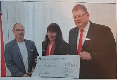 Vorschaubild zur Meldung: Die IJN startet in Kürze ein neues Projekt - 1000€ kommen von der Sparkasse OPR