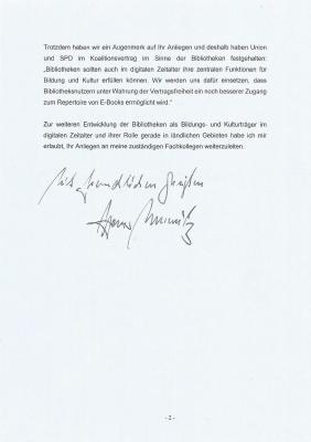 Foto zur Meldung: Abgeordneter von der Marwitz unterstützt Onleihe