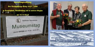 Foto zur Meldung: Dritte Antikriegsausstellung in der Heimatstube Rehfelde eröffnet