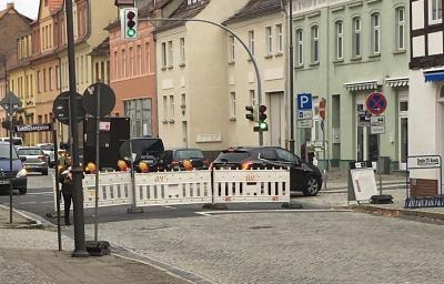 Vorschaubild zur Meldung: Geänderte Rewe-Zufahrt ab 29.10.2018, neues Teilstück Große Straße gesperrt