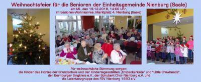 Vorschaubild zur Meldung: Weihnachtsfeier für die Senioren der Einheitsgemeinde Nienburg (Saale)