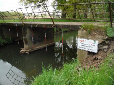 Foto zur Meldung: Baustelle an der Düte in Osnabrück: Sperrung für Kanuten