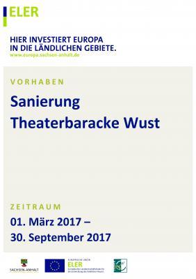 Vorschaubild zur Meldung: Sanierung Theaterbaracke Wust