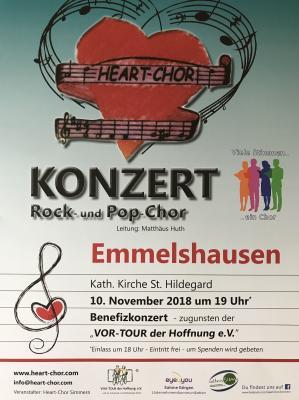 Vorschaubild zur Meldung: Benefizkonzert Heart-Chor