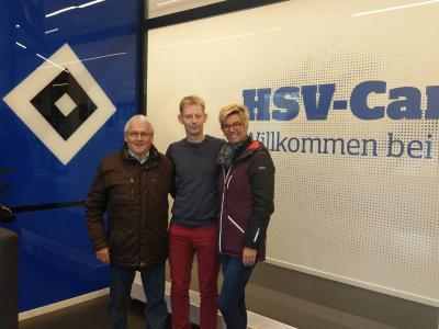 Foto zur Meldung: Ex-Germanen Präsident Günter Strube trifft Ex-Germanen Trainer Steffen Weiß