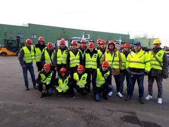 Vorschaubild zur Meldung: Besuch zyprischer Studenten der Perifereiaki Techniki School Ammochostou 2018
