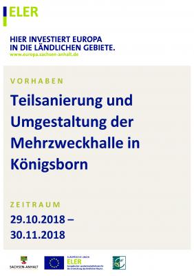 Vorschaubild zur Meldung: Teilsanierung und Umgestaltung der Mehrzweckhalle in Königsborn