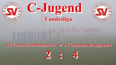 Foto zur Meldung: C-Jugend wehrt sich im Nebel von Harzgerode