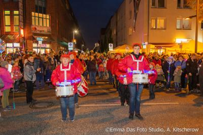 Der Fanfarenzug aus Hohen Neuendorf führte den Umzug an.