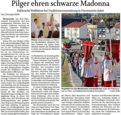 Vorschaubild zur Meldung: Pilger ehren schwarze Madonna