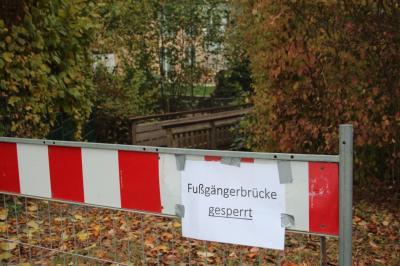 Verbindungsbrücke zwischen Scheffelstraße und Hebelstraße ist baufällig