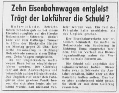 Bericht Hellweger Anzeiger vom 23.06.1960