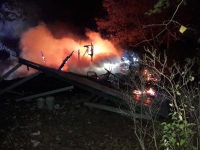 Foto zur Meldung: Bungalow brannte nieder