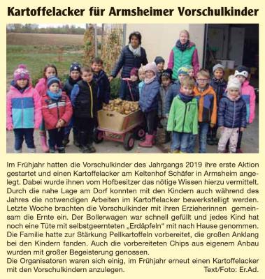Foto zur Meldung: Kartoffelacker für Armsheimer Vorschulkinder