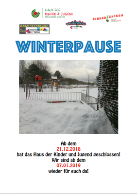 Vorschaubild zur Meldung: Winterpause