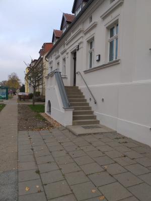 Der Eingangsbereich zum Bauamtsgebäude bleibt für zwei Tage gesperrt.