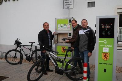 Vorschaubild zur Meldung: Veringenstadt - Erste Ladestation für E-Bikes im Laucherttal