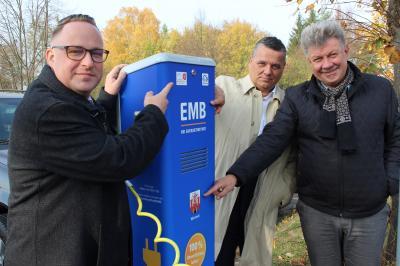 Vorschaubild zur Meldung: EMB nimmt Elektro-Ladesäule am Wittstocker Bahnhof in Betrieb