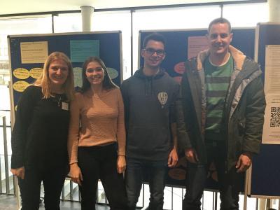 Myriam Zils, Eva Höhne, Daniel Vedder und Fabian Zorn bei der Fachtagung