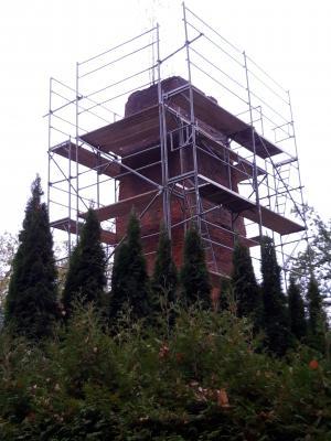 """Vorschaubild zur Meldung: Beginn der baulichen Arbeiten zur Sanierung des """"Turms Schüttelwerk"""" –  Ahlberg"""
