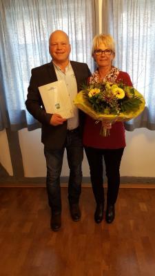 Vorschaubild zur Meldung: 40-jähriges Dienstjubiläum der Beschäftigten Anita Schmidt