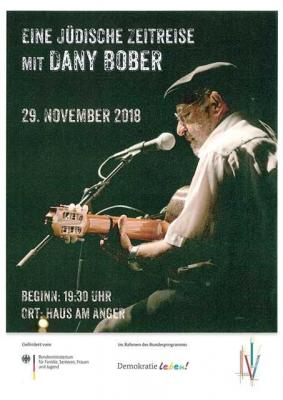 """Konzert: """"Eine jüdische Zeitreise mit Dany Bober"""" am 29. November"""