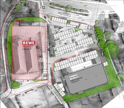 Rewe Neubau Plan