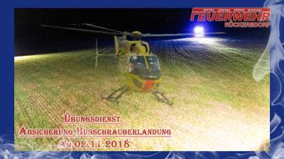 Übung Absicherung Hubschrauberlandeplatz