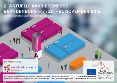 Online informieren, chatten oder direkt bewerben - Virtuelle Karrieremesse in Brandenburg vom 20. bis 21. November