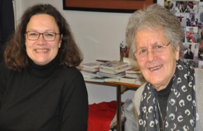 Andrea Nahles und Sr. Lea Ackermann